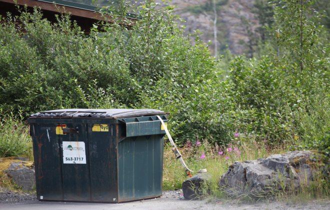 dumpster tie down