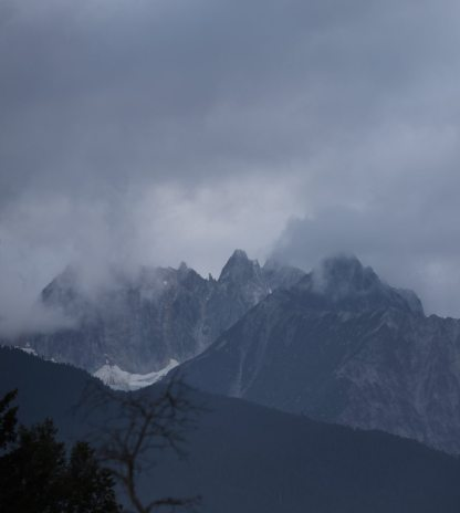Haines in morning clouds