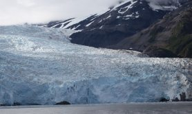 Glacier with Mountain