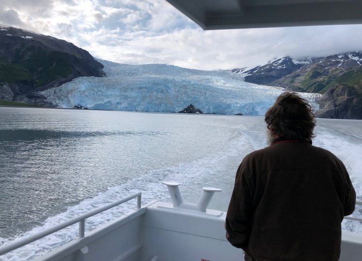 Jim looking at glacier