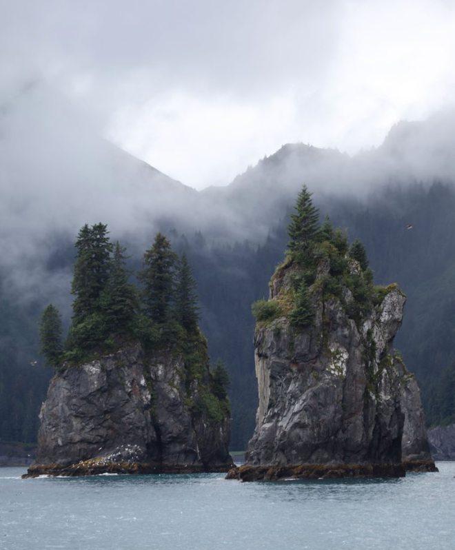 Two Islands in Fog